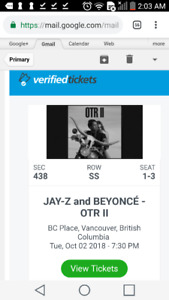 Beyonce and Jay z OTRll ticket