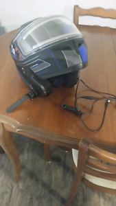 zoan snowmobile helmet.front face with coil