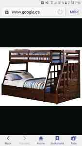 ISO Bunk bed with storage stairs