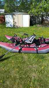 10 ft pontoon boat with electric motor and battery