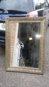 "4"" Vintage Silver Framed Stylish Mirror 31""x43"" $200 obo"