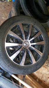 4 tires and 4 tires with rims suv/car