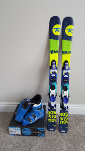 Boys Rossignol Terrain 116mm Skis and boots