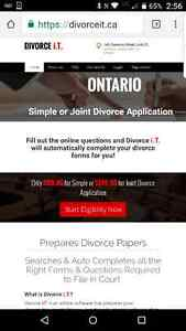 Simple or Uncontested Divorce Application $99.95 Peterborough Peterborough Area image 1