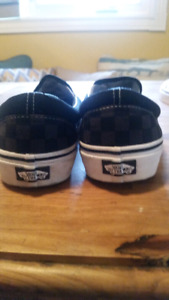 Vans black/grey checked shoes