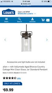 Pendant lights -Brand new. (3)