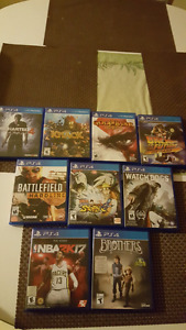 PS4 w/ 9 games and a controller