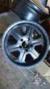 4- 17x8 black aluminum rims