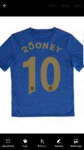 BRAND NEW Manchester United Limited Edition Rooney Jersey XL