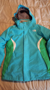 NORTH FACE GIRLS HYVENT 2-IN-1 SPRING/WINTER JACKET SIZE L 14-16
