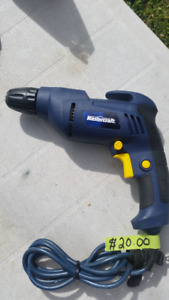 MASTERCRAFT 3/8 INCH ELECTRIC DRILL IN EXCELLENT CONDITION