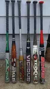 Worth/Miken/Rawlings softballs bats