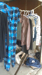 Clothes various sizes and styles