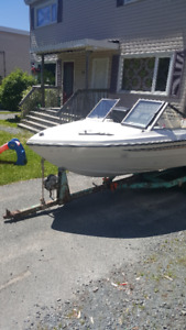 1985 Sunray boat and trailer for sale $1500.00 or best offer.