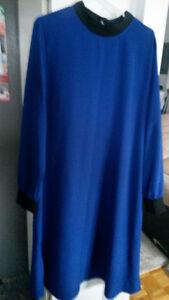 Chemise Bleu roi Avec pontalon