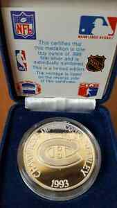 Montreal Canadiens Stanley Cup 1 troy ounce silver.