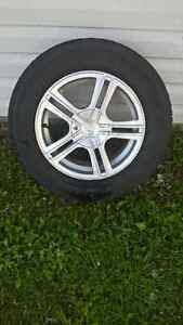 215/65R16 tires on alloy rims for sale
