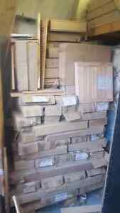 Lot of approximately 600 new sealed window shutters.