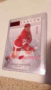 Steve Yzerman ruby /999 hockey card St. John's Newfoundland image 1