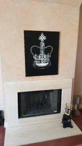 Oliver Gal Inspired Royal Crown Painting 24x30 inch Canvas