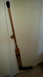 Hockey Pro Goalie Stick 1940s Laminated Wood Maker Unknown