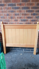 Single Bed Wood Beech mattress included
