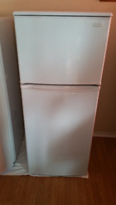 fridge with freezer on top by Danby