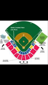 Baseball Tickets 4 Box Seats for Nooners