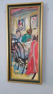 Peinture signée encadrée