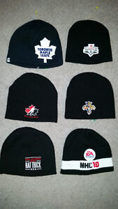 awesome NHL toques in new condition only 3$ each................