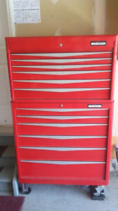 Mechanic's tool boxes with tools
