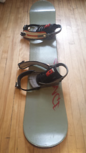 Snowboard, fixture and size 12 boot for only 79