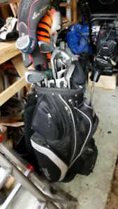 Golf Clubs and shoes