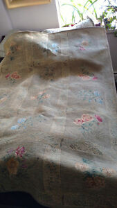 6 X 8 AREA RUG - THICK WOOL BACKING