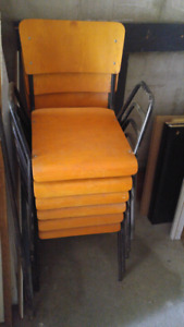 Set of 6 Sturdy Chairs that Stack