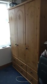 3 Drawer Wooden Wardrobe for sale