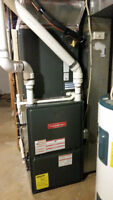 Furnace,Gas Line,Air Conditioner,Humidifier,Water Tank,Duct work
