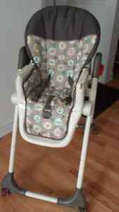 Baby high chair adjustable $45