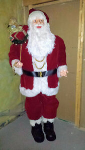 6ft Santa with bag of toys