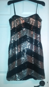 Black and silver new years dress
