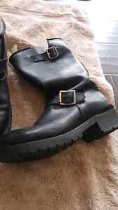 Men's leather bike boots