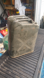 Metal Jeep gas cans