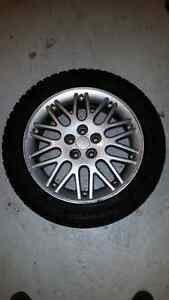 16 inch alloy rims with studded tires.
