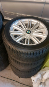 BMW ALLOY WINTER WHEELS AND TIRES 205/55R16 TOYO