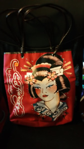 Sack - red with Ed Hardy logo design.
