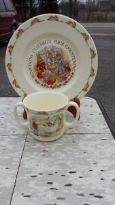 ROYAL DOULTON BABY CUP AND SMALL DISH Belleville Belleville Area image 3