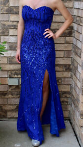 Blue Prom Dress For Sale size 2