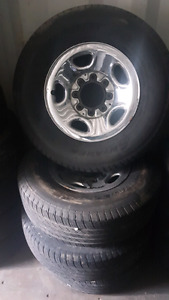 Chevy 2500 tires on rims