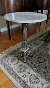 *Antique Marble Top Brass Table*