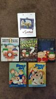 South Park and family guy seasons